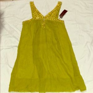 BCBGMAXAZRIA Lemongrass Yellow Summer Dress